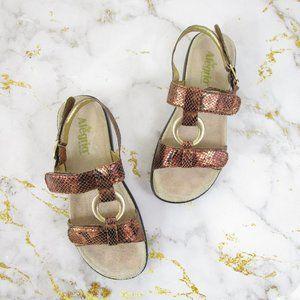 Alegria Julie T-Strap Leather Slingback Sandals